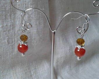 """""""Brown Pearl duo"""" earrings"""