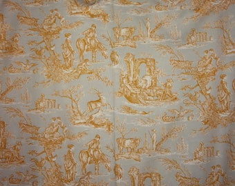 "A vintage fabric or vintage prints ""toile de jouy"""
