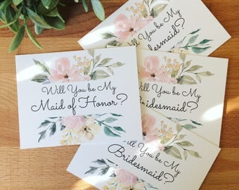 Bridal Party Proposal Cards, Will You Be My Bridesmaid Card, Will You Be My Maid Of Honor Card, Bridesmaid Proposal, Maid of Honor Proposal