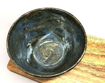 Midnight Bowl, Handmade Ceramic