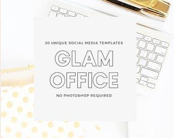 Glam Office Social Pack - Styled Stock Social Media Templates