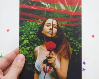 """Girl and the Red Umbrella photo print-4x6"""" print"""