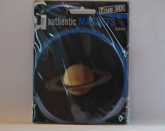 3D - Space magnet pad - Plantet Saturn - round - diameter 9 cm