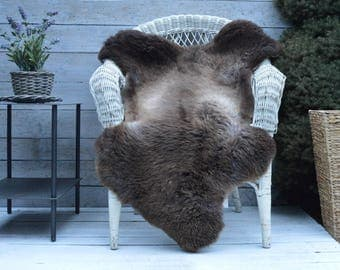 Unique No.721 Luxury Sheepskin Rug, Throw, Blanket, Very Rare Breed Multi - Size XL
