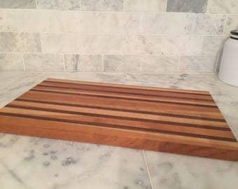 Cherry, Oak and Black Walnut Cutting Board