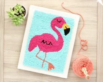 The Punch Box - Flamingo (Punch Needle KIT)