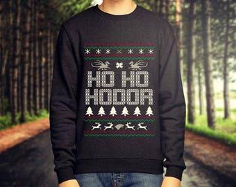 Ho Ho Hodor Christmas Game of Thrones Jumper / Sweatshirt - Stark, Targaryen, Lannister, Tyrell, Baratheon - Free UK Delivery