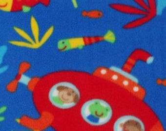 Under The Sea Animals Printed Fleece Tied Blanket