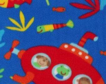 Under The Sea Animals Printed Fleece Tied Blanket