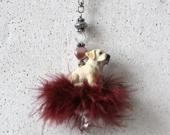 Bag pendant, charm Golden Retriever puppy I