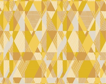 Mustard and yellow PATCHWORK fabric TWILL by Art Gallery Fabrics