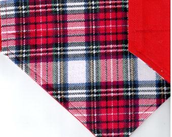 Stew Plaid Flannel Bandana   Dog Bandana   Puppy Bandana   Over the Collar Dog Bandanas   Custom Dog Bandana