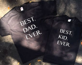 Best dad ever Best kid ever  Fathers's day, Daddy Son Tshirt, Gift for Dad, father son matching