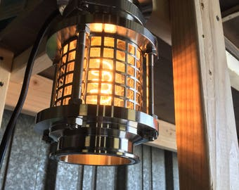 Industrial stainless sconce