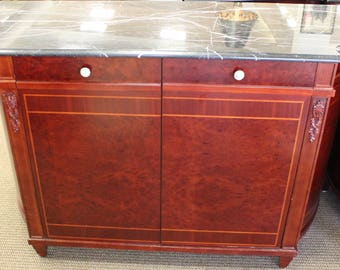 Marble Top Console with Mini Bar from The Waldorf Astoria Hotel New York