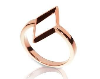 Rhombus Ring - 18K Rose Gold