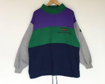 Rare!! Vintage gianni valentino sweatshirt / jumper / pullover / sweater / valentino / nice colour /