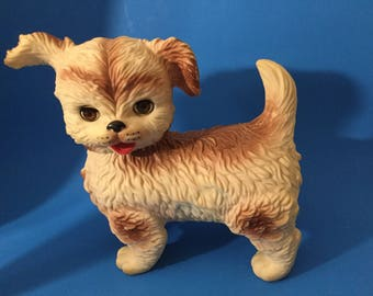 Mid Century Edward Mobley  Plastic Dog- Squeaking Dog- Ruber Dog -Toy Dog.