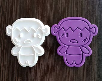 Cute Frankenstein Cookie Cutter and Stamp