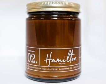 Fig & Rhubarb - 9 oz. Amber Glass Soy Wax Candle