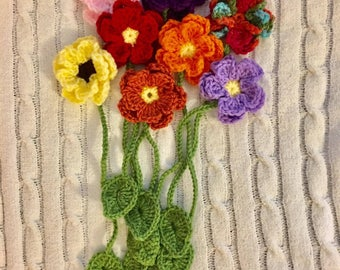 Crocheted Flower Bookmark