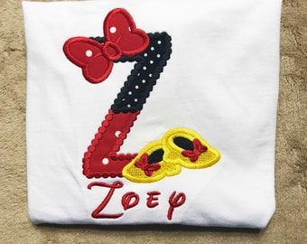 Minnie Mouse Initial Letter Personalized Disney Boutique Girls Shirt