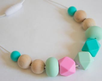 Mum Jewelry | Teething Necklace | Teething Jewelry | Silicone Necklace | Teething baby | Baby Shower Gift | Baby teether | Chewelry