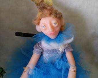 Marionette. Blue tutu ballerina. IMP Christmas.