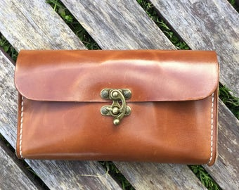 Clutch / Pouch in Wickett and Craig Harness Leather