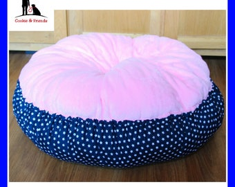 "Cosy dream bed ""Dream in pink & blue"", dog bed, pet bed, cat bed, pet bed"