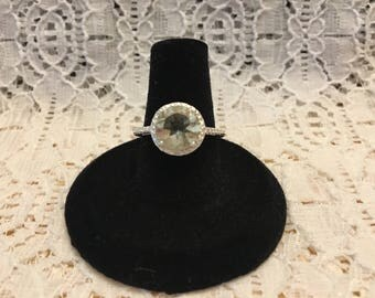 Genuine Green Amethyst Ring/Green Amethyst Ring/Green Amethyst Jewelry/Prasiolite Jewelry/Prasiolite Ring/Size 7 Green Amethyst Ring