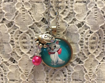 Marie Aristocats Charm Necklace/Marie Charm Necklace/Aristocats Jewelry/Aristocats Necklace/Disney Jewelry/Disney Aristocats