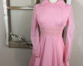 JANE Vintage polka-dot schoolgirl dress. Polka dot, vintage school clothes, school girl dress, california, circle skirt, eleven costume