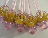 Diamond princess baby shower pacifier/diamond princess baby shower party necklace game/diamond princess baby shower favor/princess baby