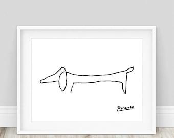 pablo picasso sketch pablo picasso picasso print picasso dog print picasso sketch