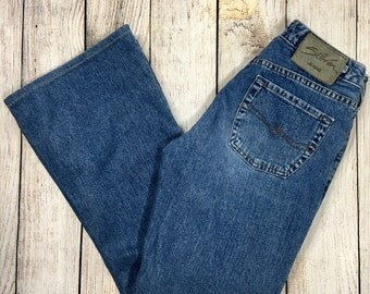 Vtg 90s Silver Jeans High Waisted Flare Leg Jeans