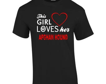 This Girl Loves Her Afghan Hound Cute Dog Lover Gift Present T-shirt Mens Womens Tshirt Top Girls(mte_169_afghan_hound_mens)