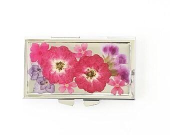 Pink Flowers 7 days Pill box Dried Flower Pill case Real Flower Pill box  sc 1 st  Etsy & 7 day pill box   Etsy Aboutintivar.Com