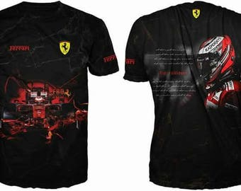 New ultramodern 3D  High Quality  Ferrari Racing  Men's T-shirt