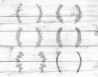 Laurel Svg, Laurel Wreath Svg, Laurel Leaf Svg, Laurels Svg, Laurel Svg File, Svg Files, Svg for Cricut, Svg for Silhouette