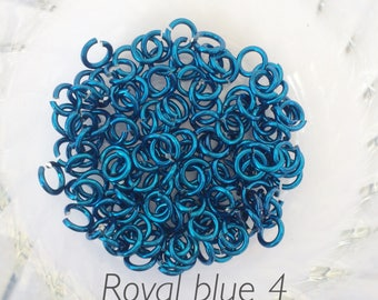 "18g 5/32 ""chainmaille saw cut blue jump rings, blue jump rings, DIY, chainmaille supplies, blue chainmaille jump rings, Tessa's chainmail"