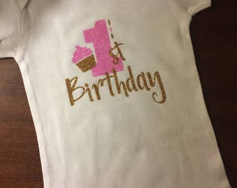 1st birthday onsie