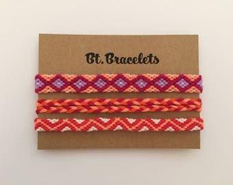 Set friendship straps red/purple 4.50