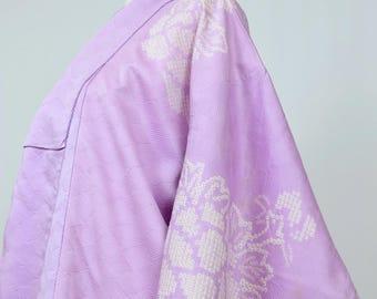 Vintage Silk Kimono Robe - Women's Clothing/silk robe/floral robe/kimono jacket/dressing gown/boho kimono/coverup/kimono/cardigan/poncho