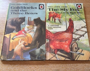 """Two Ladybird Well-Loved Tales """"Goldilocks and The Three Bears"""" and """"The Sly Fox and The Little Red Hen"""""""