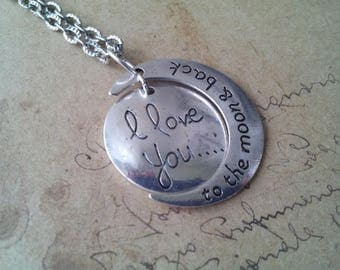 To the moon & back chain ~ silver ~