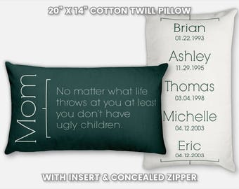 Mom from Son to Mom Gifts from Son to Mom Birthday Gift from Son Mom Gifts for Christmas Mom Gifts for Mom from Son Gift Mom from Son Pillow