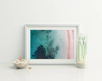 Beach Download // Beach Print // Digital Beach Photo // Beach Aerial Photo // Ocean Photo // Coastal Wall art