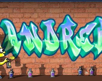 giant custom graffiti