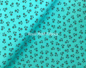 Timeless Treasures Dominicana - Aqua Small Tossed Floral by Vanessa Wilson - Sold by the Yard